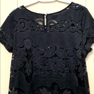 Banana Republic Lace Cutout Top/attached Tank Sz14